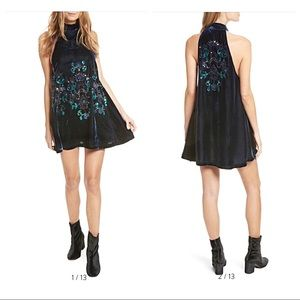 Free People Jill's Sequin Swing Mini Dress XS NWT